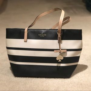 Kate spade black and white stripe purse